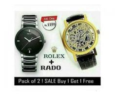1a600901c8a New Offer Pack Of Two Watches Rado and Rolex Delivery Available Rado