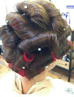 Updo Styles, Hair Styles, Hair Curlers Rollers, Wet Set, Perm Rods, Bobe, Hair Setting, Roller Set, Pin Curls