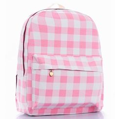 Sweet Pastel Pink Plaid Backpack sold by Moooh! Shop more products from Moooh! on Storenvy, the home of independent small businesses all over the world. Pink Clutch, Pink Crossbody Bag, Girly Backpacks, Pink Shoulder Bags, Cute School Supplies, Pink Handbags, School Bags, School Stuff, Everything Pink