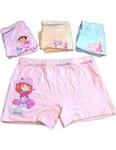 kulala little girls small braid design Modal cotton underwear 2 pack 5-7T