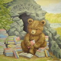 Latex paint on cider block walk Painted for Paint A Lifestyle Redstone P. Library Art, Baptism Gown, Public School, Wall Murals, School Ideas, Latex, Teddy Bear, Baby Shower, Hand Painted