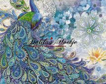 "Set of 2 pieces napkins "" Paisley Peacock "" PUNCH STUDIO"" Beautiful and unique design very popular in America and new in Europe! Peacock Artwork, Peacock Fabric, Peacock Painting, Peacock Bird, Peacock Colors, Peacock Print, Hobbies And Crafts, Arts And Crafts, Decoupage Vintage"