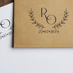Tampon mariage Monogramme vintage La Papeterie de Paris