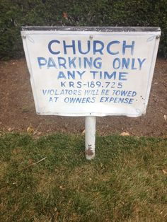 7 ways to put a not welcome sign on our church