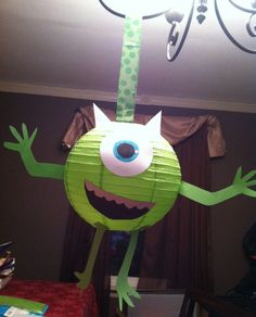Not monsters inc. but I like the idea of making monsters out of lanterns. Not monsters inc. but I like the idea of making monsters out of lanterns. Monster Party, Monster 1st Birthdays, Monster Birthday Parties, 3rd Birthday Parties, Birthday Fun, First Birthdays, Birthday Ideas, Monster University Party, Monsters University