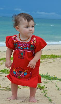 Traditional Mexican Dress - i think this is adorable! with some tulle Mexican Fashion, Mexican Outfit, Mexican Dresses, Toddler Mexican Dress, Traditional Mexican Dress, Traditional Dresses, Cute Baby Girl, Baby Love, Kid Styles