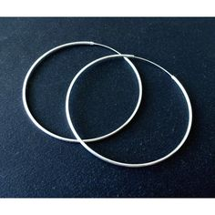 Sterling Silver Hoop Earrings Large Hoops Big Earrings Minimal Modern Greek Jewelry Gift for Her (€25) found on Polyvore featuring women's fashion, jewelry, earrings, sterling silver hoop earrings, hoop earrings, sterling silver jewelry, earring jewelry and sterling silver jewellery