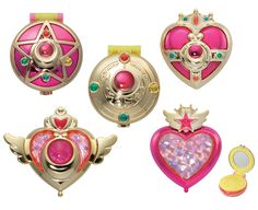 Amazon | Sailor Moon makeover compact mirror all five set | Figure Collector Doll Store