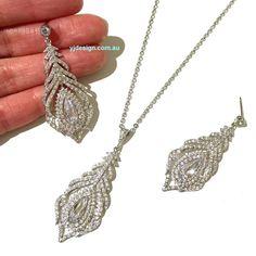 Peacock Bridal Jewelry Set Boho Wedding Earrings Cz Bridal