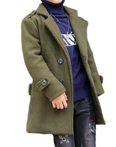 SportsX Boys Leisure Thick Winter Double-breasted Longline Peacoats Army Green 160cm. It is Chinese size and smaller than the USA size. Please check the size carefully.