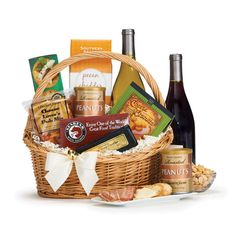 Classic Wine & Cheese Gift Basket - Cases, Samplers & Subscriptions - Wine & Beer