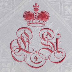 Monogram with crown