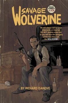Savage Wolverine #14 variant cover by Phil Noto.