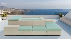 The DOLCE VITA Playa with matching outdoor lounge furniture allows you to put a small pool just about anywhere, Mini Piscina, Pergola, Gazebo, Sauna Infrarouge, Outdoor Activities For Adults, Rooftop Terrace Design, Hot Tub Deck, Pool Landscape Design, Mini Pool