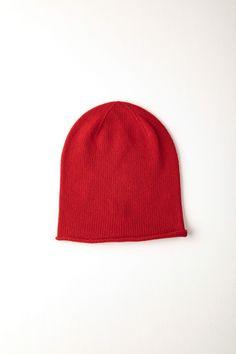cb1a40709a2 Classic Red Roll Trim Cashmere Hat