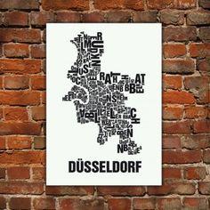 Buchstabenort Düsseldorf Stadtteile-Poster Typografie | selekkt.com