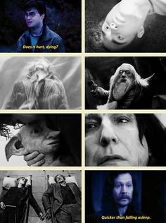 Day 23: Many Harry Potter Deaths made me feel that way like Cedric, Sirius, Dumbledore , Dobby, Severus , Remus and Tonks, and not to mention Fred!!! Also the moment when Snape reveals all of his secrets through the pensive and everything you thought you knew, you really didn't.