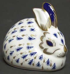 Royal Crown Derby Imari Paperweight Collection at Replacements, Ltd-Rabbit figurine