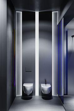 - Loftec - on Behance Open Bathroom, Washroom, Shopping Mall Interior, Bathroom Lighting Design, Bathroom Showrooms, Model House Plan, Tile Showroom, Restroom Design, Ceramic Shop