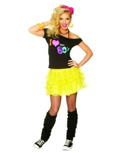 80's Petticoat Yellow Best 80s Costumes, 80s Halloween Costumes, Cyndi Lauper Costume, Madonna Costume, 80s Outfit, 80s Party, 80s Fashion, Fashion Accessories, Yellow