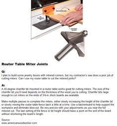 Router Table Miter Joints | WoodworkerZ.com