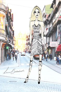 Fashion illustration summer 2015 - lace dress you need on vacation - LA.B Fashion & Food.
