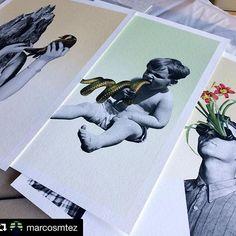 """Impresiones #giclée de @marcosmtez  impresas en @hahnemuehle Museum Etching 355gsm para su próxima exposición colectiva """"Memento mori"""" que se inaugurará el 24 de Marzo  en la #GaleriaMrPink de Valencia. ✨ Gracias Marcos!  #Repost @marcosmtez ・・・"""