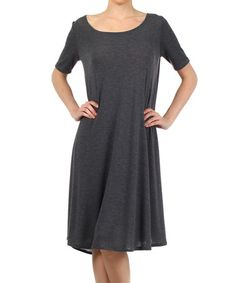 Another great find on #zulily! Charcoal Shift Dress - Plus #zulilyfinds