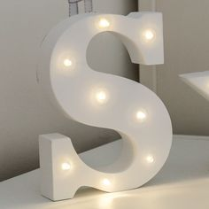 Alphabet 'S' Marquee Battery Light Up Circus Letter, Warm White LEDs, 16cm £9.99