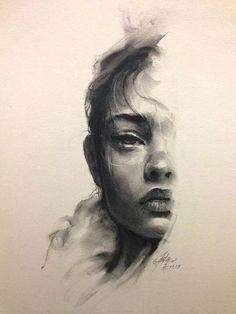 Art of half a face