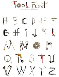 Alphabet Clipart Watercolor, Tool Clipart, Name Letters