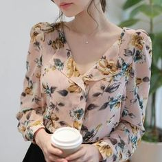 V-Neck Floral Print Blouse from #YesStyle <3 MyFiona YesStyle.com