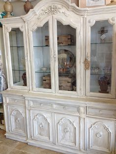 Painted Hutch Pure White Clear Dark