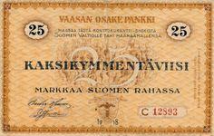 25 mk 1918 Vaasan Osake Pankki C sarja kl.4