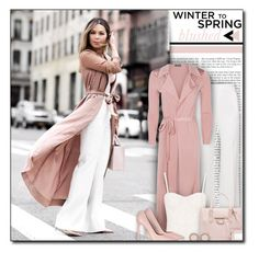 """#742 - Winter to Spring: Blushed Tones"" by lilmissmegan ❤ liked on Polyvore featuring Roland Mouret, Boohoo, Alice + Olivia, Shabby Chic, Balenciaga, Topshop, Michael Kors, GetTheLook, Spring and blogger"