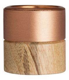 Wooden tea light holder #HMHome