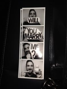 photo booth proposal -- will you marry me