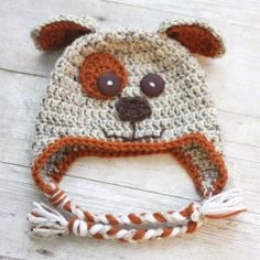 Crochet Puppy Hat Pattern - free
