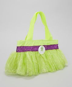 Take a look at this Green & Purple Glitter Frog Tutu Lunch Bag by Culver Cutie Boutique on #zulily today!