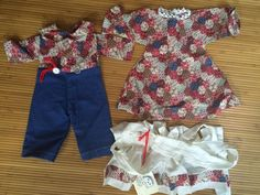 Raggedy Ann and Andy Clothing Dresses Apron Outfits for dolls #Clothing
