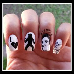 Elvis Presley Nails @asinails- #webstagram