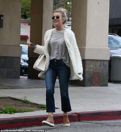 Julianne Hough steps out in fluffy white jacket in Hollywood #dailymail