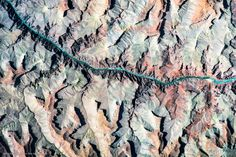 Grand Canyon village United States, rock pattern, Google-Earth-view-5076