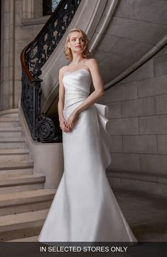 Women's Sareh Nouri Raina Strapless Satin Wedding Dress, Size