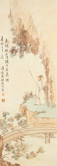 鮑照詩意 by 溥心畬(1896-1963)
