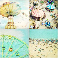 Reserved for Heidi - Four 8x8 Archival prints - Coney Island