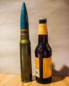 The next time you pop open a bottle of brew, imagine that kind of size (and shape) going into an armored tank from a Warthog.