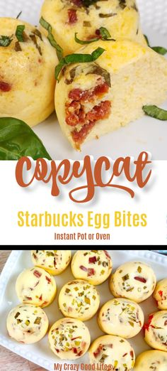 These copycat Starbucks Egg Bites are so easy to make in your Instant Pot! Save money and calories by making these healthy egg bites at home. These taste like Sous Vide Egg Bites but can be made in the Instant Pot or oven. Ww Recipes, Low Carb Recipes, Cooking Recipes, Healthy Recipes, Starbucks Egg Bites, Healthy Starbucks, Starbucks Recipes, Breakfast Casserole Easy, Recipes