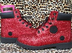 Custom Glitter Timberland Boots Timberlands by MAMMcreations