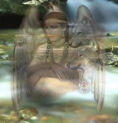Native Angel & Wolf